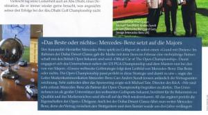"""Mercedes-Benz ist toll. Ausriss aus """"Golf Journal"""" 4/11. Zum Vergrößern anklicken!"""